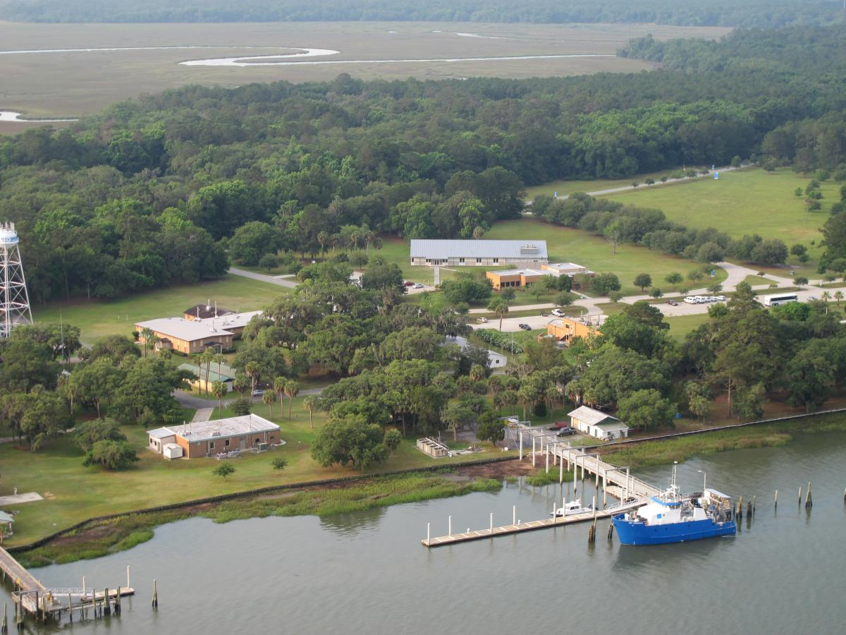 Aerial view of the Skidaway Institute